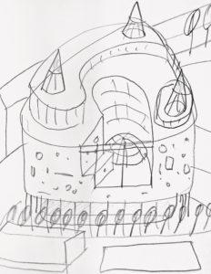 Arhitektuuriskits / Architectural sketch. 2013