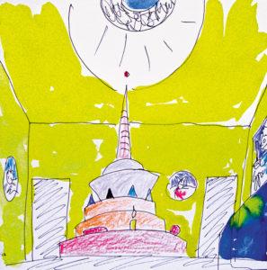 Elevandimaja skits / Sketch for the Elephant House. 2012
