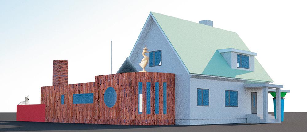 Eramu rekonstruktsiooniprojekt Meriväljal /  House reconstruction project at Merivälja.  Arhitekt / Architect Vilen Künnapu,  kaasa töötas / assisted by Kersti Nigols.  Projekt / Design 2015