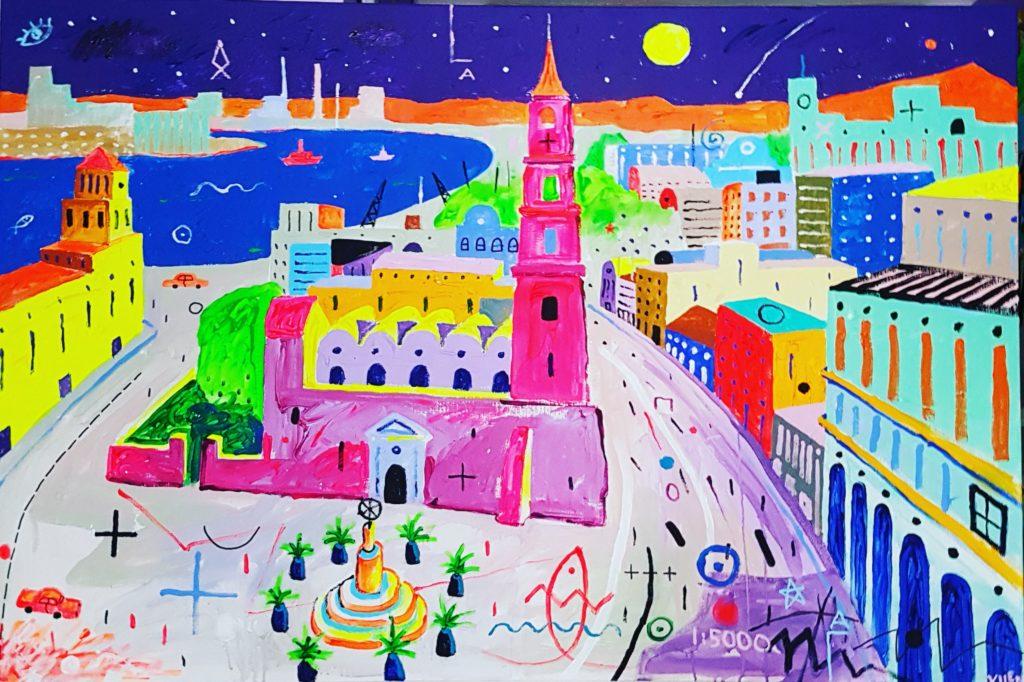 Havanna. Akrüül lõuendil. / Havana. Acrylic canvas. 100 x 150 cm, 2018