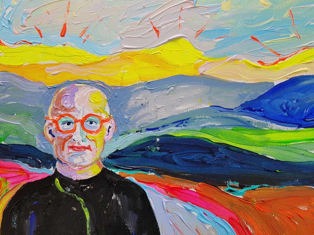 Himaalaja. Akrüül kõuendil. / Himalaja. Acrylic on canvas. 30 x 40 cm, 2016
