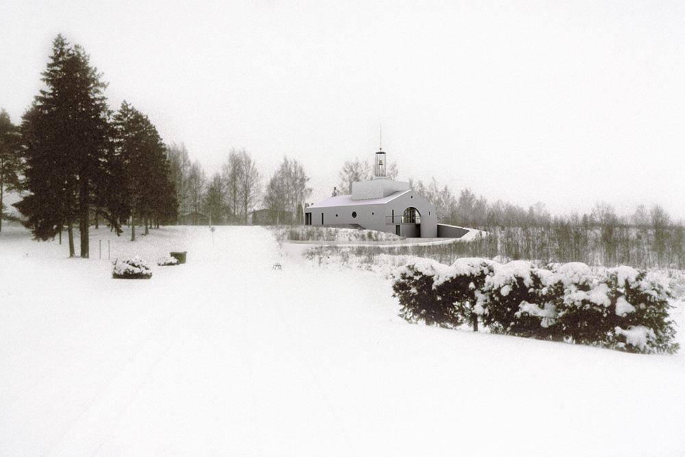 Kabel Viljandi metsakalmistul /  Chapel in the Viljandi Woodland Cemetery.  Projekt / Design 2004