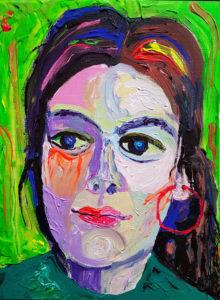 Kamile. Akrüül lõuendil / Acrylic on canvas. 40 x 30 cm, 2017