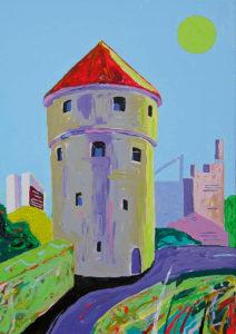Kiek in de Kök. Akrüül lõuendil / Acrylic on canvas. 100 x 80 cm. 2014