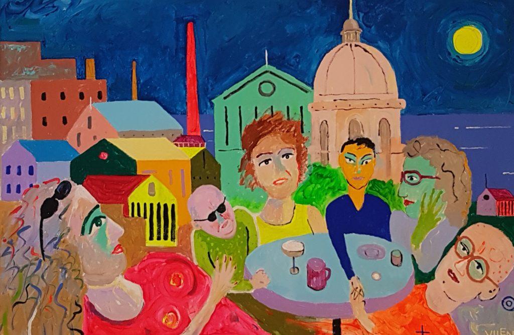 Lissabon. Akrüül lõuendil. / Lisbon. Acrylic on canvas. 100 x 150 cm, 2016