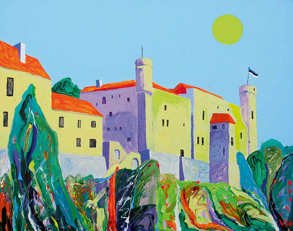 Maagiline Toompea. Akrüül lõuendil / Magic Toompea. Acrylic on canvas. 80 x 100 cm. 2014 (Erakogu / Private Collection)