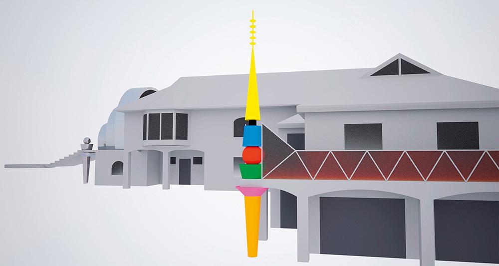 Maja rekonstruktsiooniprojekt Võrus /  House reconstruction project in Võru.  Arhitekt / Architect Vilen Künnapu,  kaasa töötas / assisted by Kersti Nigols.  Projekt / Design 2015