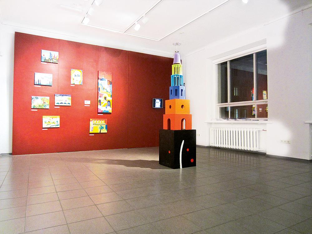 Päikesetorn, installatsioon Tartu Kunstimajas / Sun tower, installation, Tartu Art House. 2013