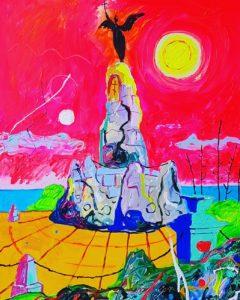 Russalka. Akrüül lõuendil. / Acrylic on canvas. 90 x 120 cm, 2017