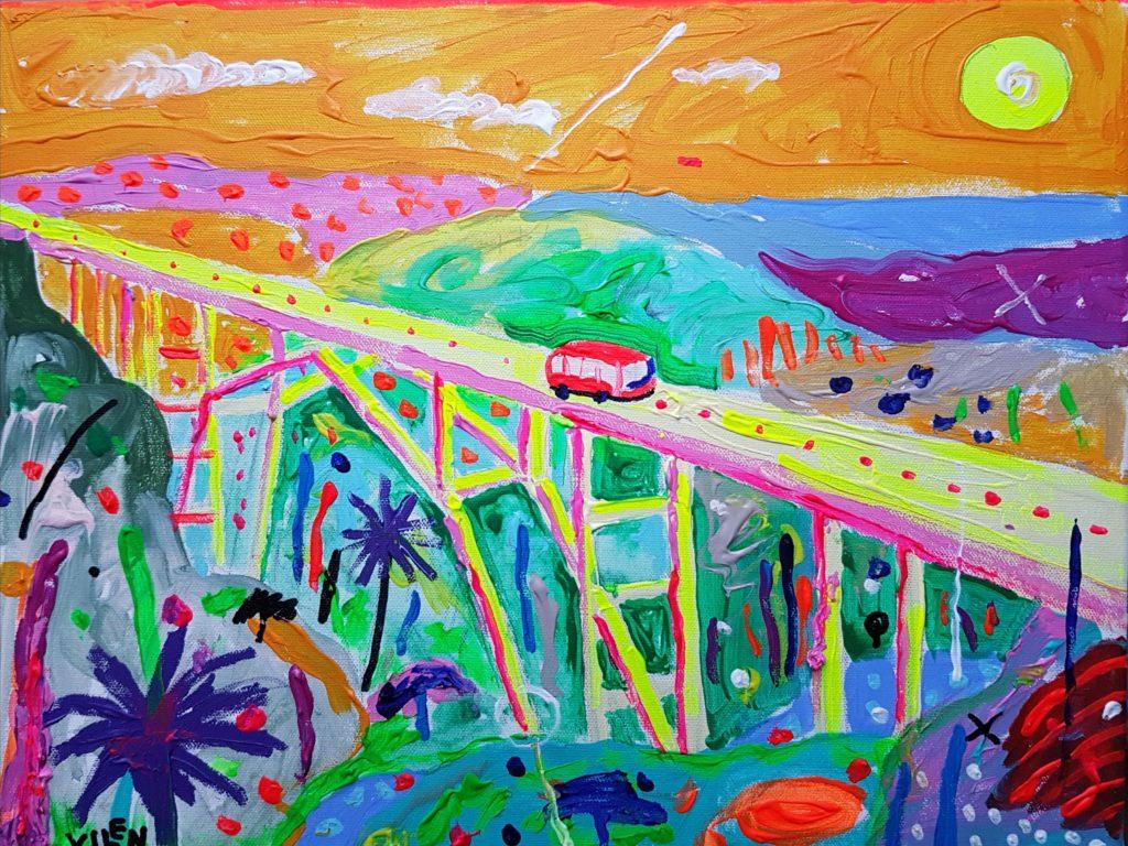 Sild. Akrüül lõuendil. / Bridge. Acrylic on canvas. 30 x 40 cm, 2018