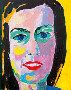 Sirly. Akrüül lõuendil / Acrylic on canvas. 30 x 24 cm. 2014