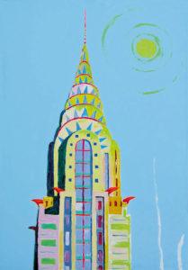 Torn New Yorkis. Akrüül lõuendil / Tower in New York. Acrylic on canvas. 120 x 80 cm. 2014