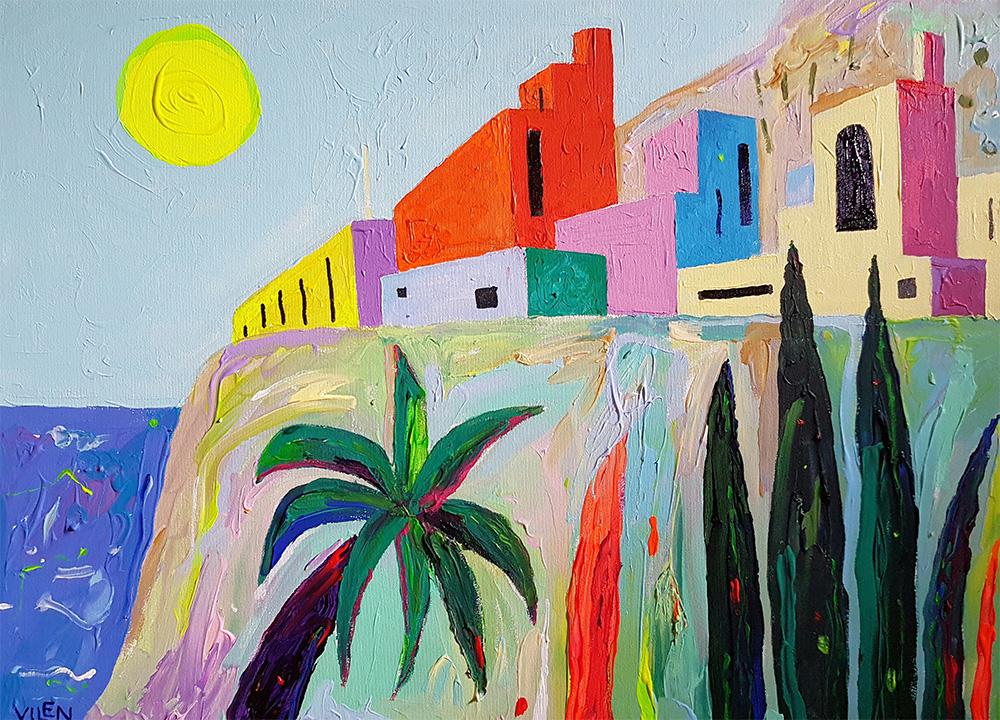 Õhtu Tenerifel. Akrüül lõuendil / Evening at Tenerife. Acrylic on canvas. 50 x 70 cm. 2017