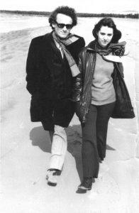 Liiviga Vääna rannas / With Liivi at Vääna Beach. 1973